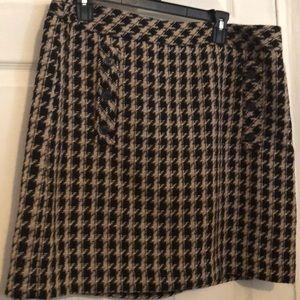 Short winter skirt
